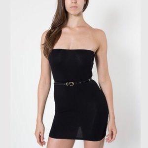 American Apparel Black Too-Short Tube Dress!